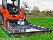 "Bradco Skid Steer Brushcutter,Ground Shark 72"",Cuts 4"" Trees,15-25 GPM,1280lb"