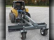 Skid Steer Grader Blade Attachment, 8 Ft Wide, Six Way,Runs on Standard Flow