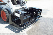 """Skid Steer Root Grapple HD 72"""" Wide,Tines Spaced 5 1/2"""",Protected Cylinders,NEW"""