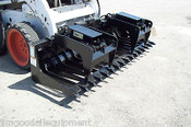 "Skid Steer Root Grapple HD 84"" Wide,Tines Spaced 5 1/2"",Protected Cylinders,NEW"