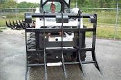 "Skid Steer Clearing Rake, 77"" Width HD Construction,6 Tines,Fits All Skid Steers"