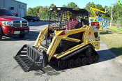 "ASV-Terex RC30-PT30 Rock Bucket, 48"" Wide, 1 1/8"" Tines"