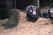 "Stump Grinder, fit Skid Steer Loader w/High Flow, Grinds 12"" Below Ground, 30"" Wheel"