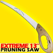 "Extreme Premium 13"" Pruning Saw with 9"" D-Ring Saw Handle, 6 teeth per inch"