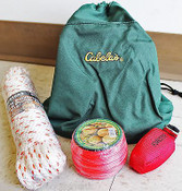 Tree ClimbersThrow Line Bag Kit,180' Line,15oz Throw Bag,50' Poly Prunner Rope