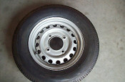 Nifty TM34M-H Towable Boom Lift Replacement Wheel & Tires, OEM Factory Wheel