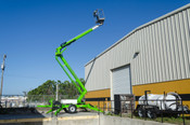 Nifty TM50 56' Boom Lift, Dual Power, Wheel Drive, Drive Around The Job Site With Joystick