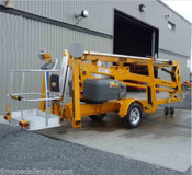Bil Jax 5533A Towable Boom Lift, 61' Work Height, 33' Outreach