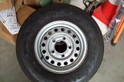 Nifty TM50 Towable Boom Lift Replacement Wheel & Tires, OEM Factory Wheel