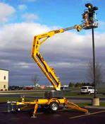 "Bil Jax 3522A Towable Boom Lift, 43' Work Height, 22'6"" Outreach, 3400 Lbs"