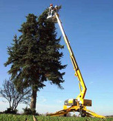 "Bil Jax 3632T Towable Boom Lift, 43'6"" Work Height, 32' Outreach, 4400 Lbs"