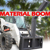 Material/Tree Boom Attachment for Skid Steers, Lift 10,000 Lbs! Fits Mustang
