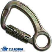 Tree Climbers Forged Steel Carabiner w/integral Eye,Tensile Strength 10,110lbs