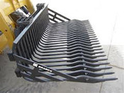 "84"" Bradco Heavy Duty Rock Bucket for Skid Steers, Fits Bobcat, Cat, Case, Gehl, Deere"