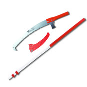 """Pole Saw Kit,Telescopic 7 Ft to 18.4 Pole,16"""" Blade with Hook,Sheath,Made Japan"""