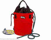Rope Bag,Help Keep Coiled,Tangle-Free & Protected, Red,Webbing Straps,Made USA