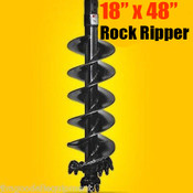 "18""x48"" Skid Steer Rock Ripper Auger Bit, 2"" Hex Drive, Extreme Duty, Digs Rock & Frozen Dirt"
