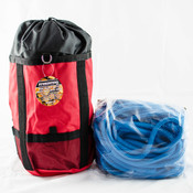 "Samson True Blue Tree Climbing Rope, Rated 7300Lb, 12 Strand, Firm 1/2""x150' W/Bag"