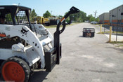 "Skid Steer, Tree Boom Carrier, 59"" H, Rated 3500 Lbs, Fits Bobcat, Case, Cat, Deere"