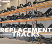 "Kubota SVL90-95 Replacement 18"" Rubber Track, One Track"
