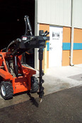 "X1500 Auger Package for Mini Skid Steers, High Torque-Low Speed, w/Choice of 24"" Dirt or 24"" Tree Bit"