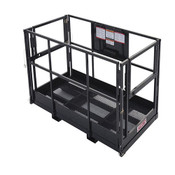 Industrial Work Platform Man Basket for Telehandler, 1000 Lb. Capacity, 4 x 8