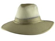 Solarweave Sun Protection Mesh SPF 50+ Safari Hat by DPC, XL Camel