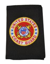 United States Coast Guard Logo Nylon  Wallet