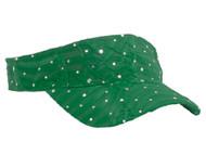Glitter Sequin Visor - OLIVE