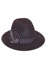Fedora Cap with Flower Band