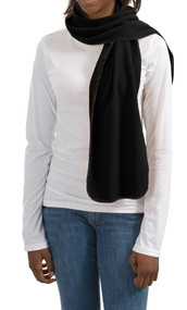 Port & Company Fleece Scarf With StitchIng (FS01) Black