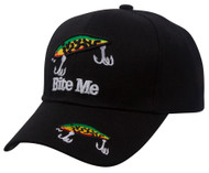 Top Headwear Outdoor Fisherman Bite Me Baseball Cap
