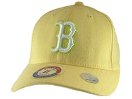 Light Yellow Youth Size Flex Fit Hat - Boston Red Sox