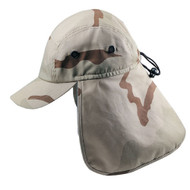 Camouflage Twill Cap with Flap--- New Desert