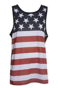 Gravity Threads USA Stars And Stripes Mens Tank Top