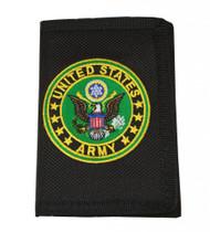 United States Army Logo Nylon Hook & Loop Wallet