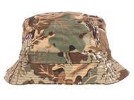 Pigment Dyed Bucket Hat, Leaf Camo
