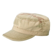 CAMO TWILL WASHED ARMY CAP - Desert