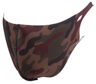 Top Headwear Reusable Fabric Fashion Face Dust Mask, Woodland Camo