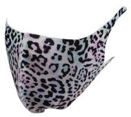 Top Headwear Reusable Fabric Fashion Face Dust Mask - Multi Blue Leopard