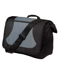 Port Authority Midcity Messenger Shoulder Strap Bag, Dark Gray Black
