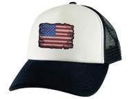 Gravity Threads Tattered US Flag Adjustable Trucker Hat