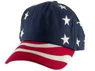 Top Headwear USA Stars and Stripes Adjustable Baseball Cap