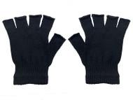 Gravity Threads Adult Soft Lined Stretchy Half Finger Fingerless Gloves