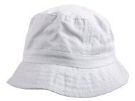 Youth Pigment Dyed Bucket Hat - White