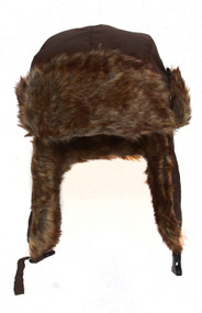 Winter Faux Fur Brown Aviator Cap