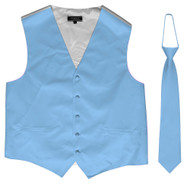 Omega Button Vest + Matching Tie
