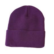 Long Cuff Beanie - Purple