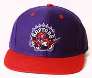 Hardwood Classics Toronto Raptors Original Style Snapback Hat - Purple Red