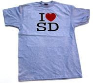 I Love <3 San Diego Fitted Shirt